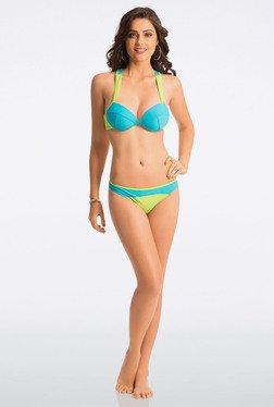 Pretty Secrets Blue & Green Underwired Racerback Bikini