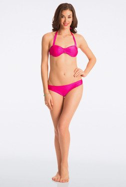 Pretty Secrets Pop Pink Halter Bikini Set