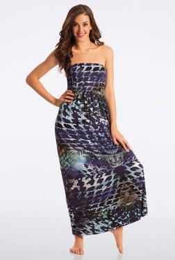 PrettySecrets Blue Printed Beach Maxi Dress