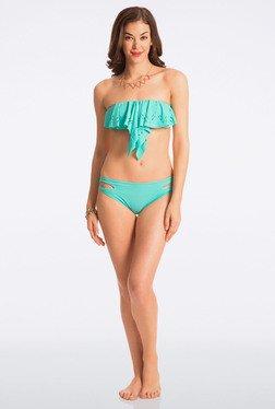 Pretty Secrets Turquoise Strapless Bikini Set