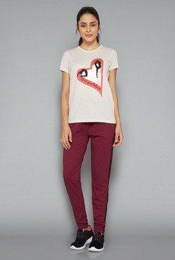 Westsport Womens Beige Printed T Shirt
