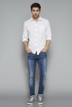 Westsport Mens White Printed Shirt