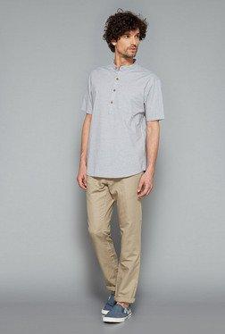 Westsport Mens Grey Solid Shirt