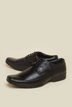 Zudio Black Derby Lace Up Shoes