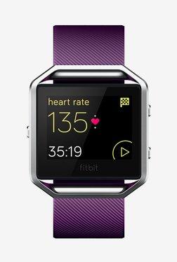 Fitbit Blaze Smart Fitness Watch, Large (Plum/Silver)