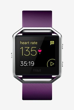 Fitbit Blaze Smart Fitness Watch, Small (Plum/Silver)