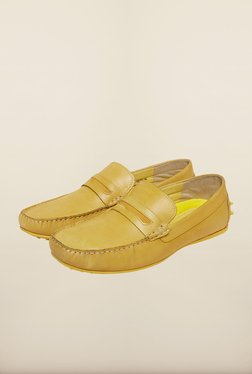 Red Tape Yellow Leather Loafers