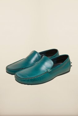 Red Tape Aqua Blue Leather Loafers