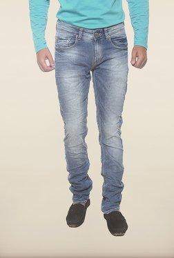 Spykar Blue Denim Low Rise Skinny Fit Jeans