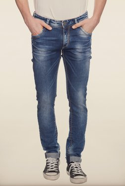 Spykar Blue Low Rise Denim Jeans - Mp000000000223017