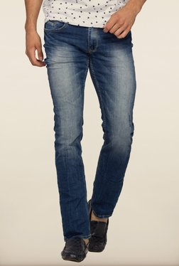 Spykar Blue Denim Low Rise Jeans