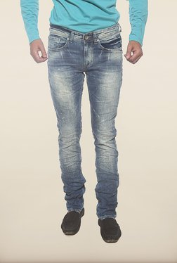 Spykar Blue Washed Low Rise Jeans - Mp000000000223369
