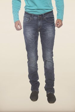 Spykar Blue Washed Low Rise Skinny Fit Jeans