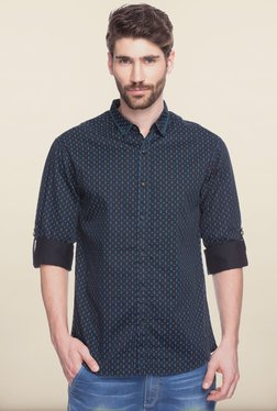 Spykar Black Printed Casual Shirt
