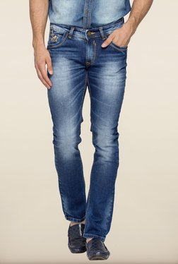 Spykar Blue Washed Skinny Fit Jeans