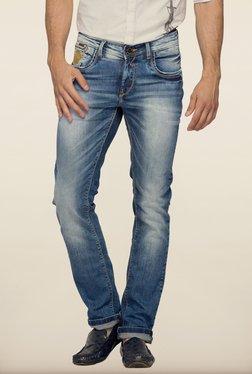 Spykar Blue Washed Skinny Fit Denim Jeans