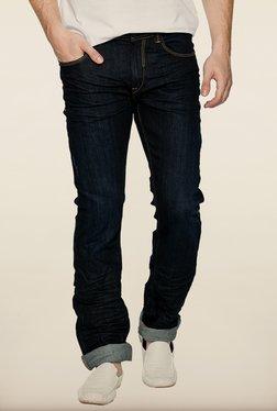 Spykar Dark Blue Low Rise Slim Fit Jeans