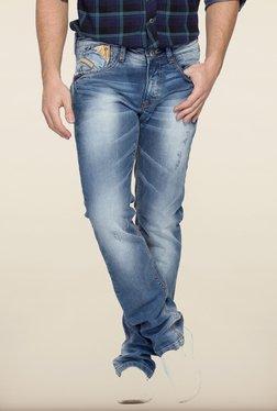 Spykar Blue Distressed Skinny Fit Denim Jeans - Mp000000000223000