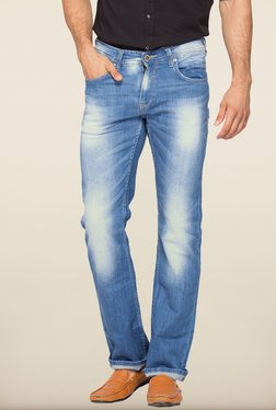 Spykar Blue Washed Slim Fit Jeans