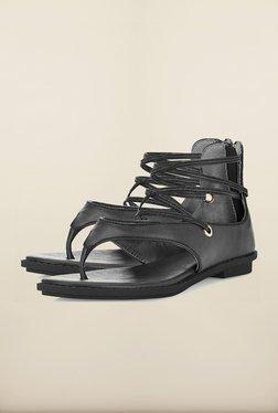 Tresmode Reparis Black Flat Sandals