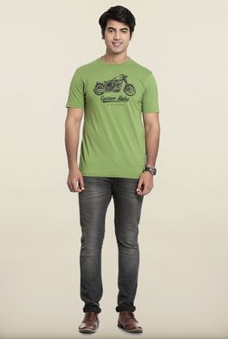 Seven Green Printed T-Shirt