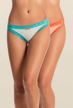 Pretty Secrets Orange & Blue Thongs (Pack Of 2)