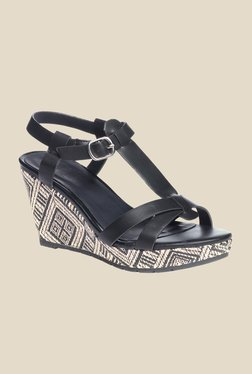 Pavers England Black Ankle Strap Wedges - Mp000000000224668