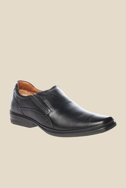Pavers England Black Leather Formal Shoes - Mp000000000225066