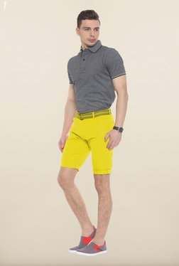 Sweet Dreams Yellow Solid Jamaican Shorts