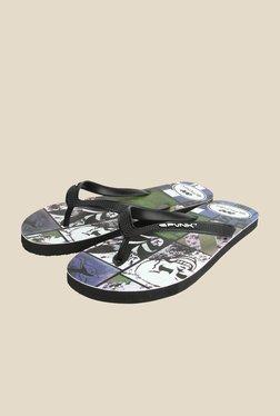 Spunk Skull Black & Green Slippers