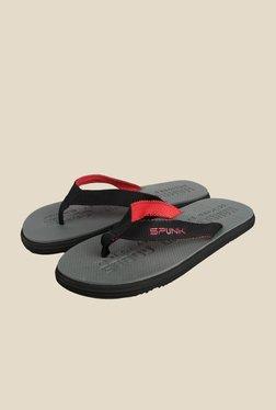 Spunk Thar Black & Grey Slippers