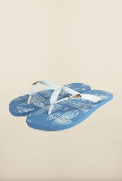Spunk Rope White & Sky Blue Slippers