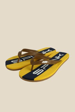 Spunk Heritage Chocolate & Yellow Slippers