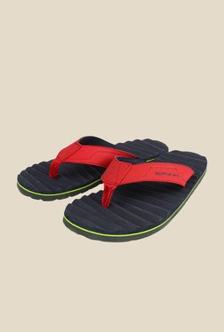 Spunk Curvy Red & Twilight Blue Slippers