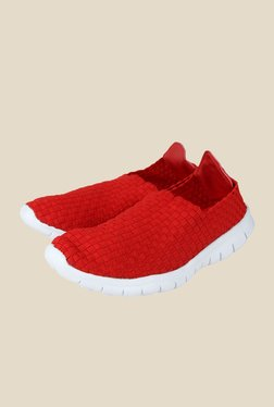 Spunk Weave Red & White Casual Shoes