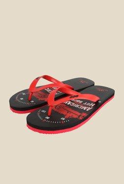 Spunk Vintage Red & Black Slippers