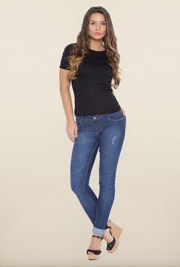 Kraus Blue Distressed Skinny Fit Jeans