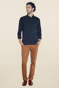 Parx Navy Solid Shirt - Mp000000000229124