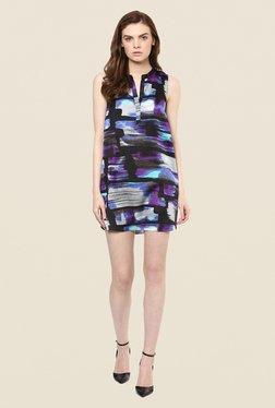 Avirate Blue Print Shift Dress