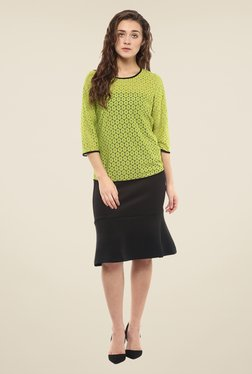 Avirate Green Lace Top