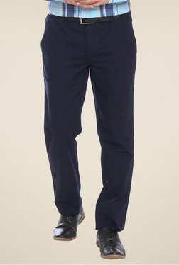Park Avenue Navy Solid Trouser