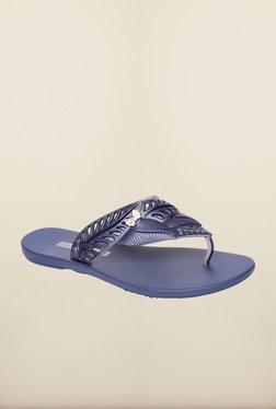 Ipanema Navy & Silver Flip Flops
