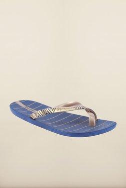 Ipanema Gold & Blue Flip Flops