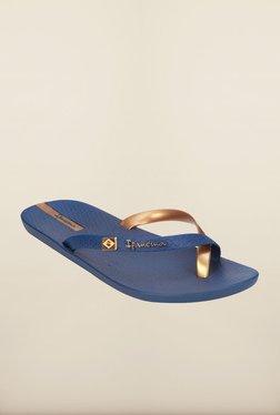Ipanema Navy & Golden Flip Flops