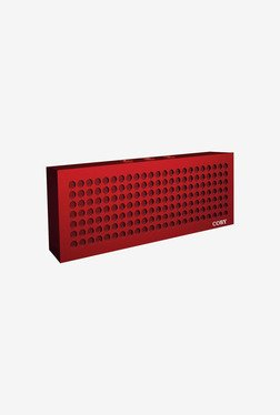 Coby Aluminum Brick Bluetooth Speaker (Red)