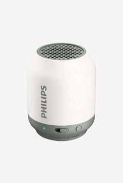 Philips Bt50W/37 Mini Portable Bluetooth Speaker (White)
