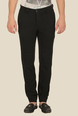 Mufti Black Raw Denim Jeans