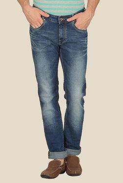 Mufti Blue Distressed Slim Fit Jeans - Mp000000000241308