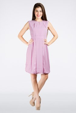 109 F Purple Solid Dress