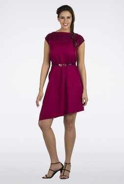109 F Pink Solid Dress